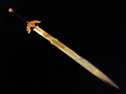 K様 金属製王者の剣 完成写真 剣詳細①