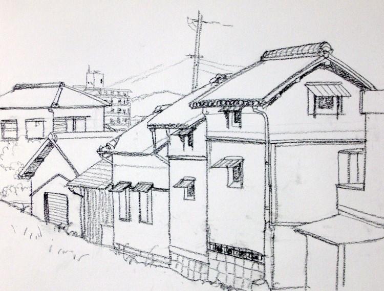 大間の旧家 デッサン (750x569)