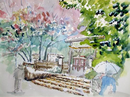 野々宮神社雪