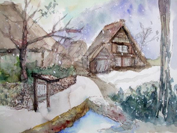白川郷 雪