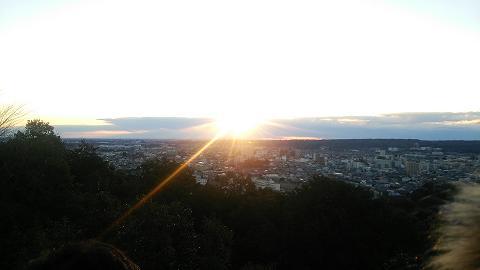 天覧山初日の出2015山頂