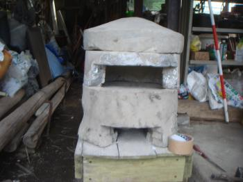 小型組み立て式石窯の完成だ