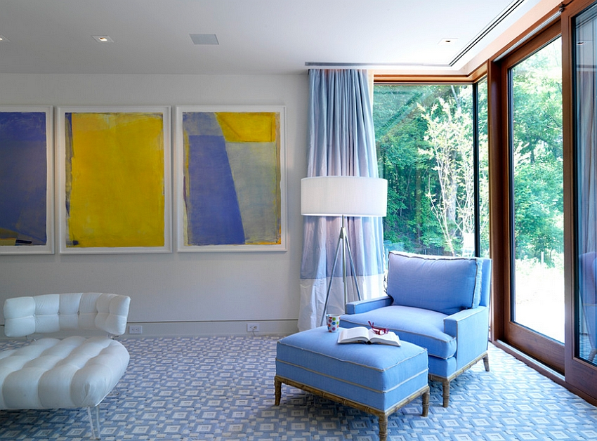 Artwork-brings-bright-yellow-into-this-luxurious-bedroom.jpg