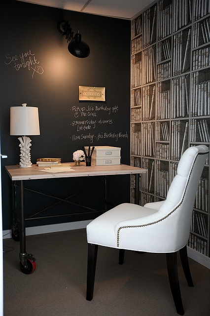 Beautiful-home-office-with-chalkboard-wall-and-Fornasetti-wallpaper.jpg