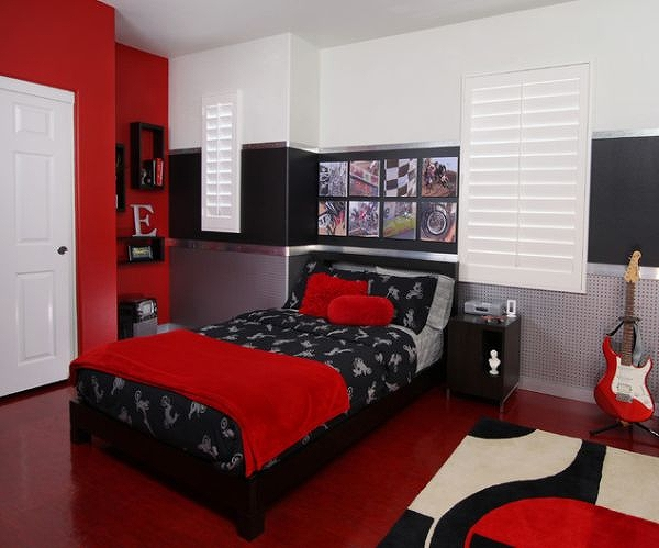 Black-and-red-teen-bedroom-with-an-industrial-edgy-style.jpg