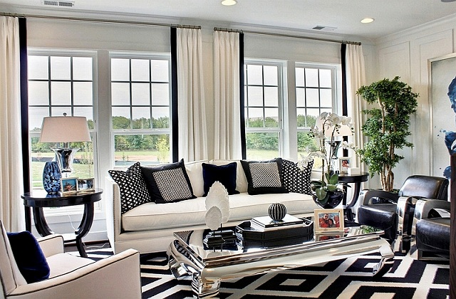 Bold-pattern-of-the-rug-and-the-throw-pillows-drive-home-the-black-and-white-color-palette.jpg