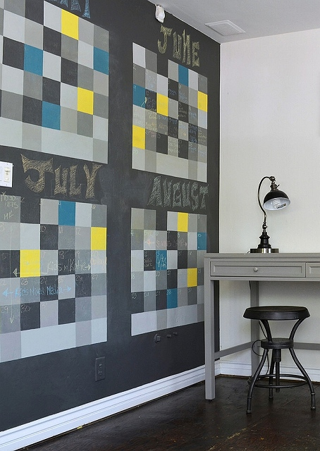 Chalkboard-wall-shapes-a-dynamic-and-fun-calendar-in-the-home-office.jpg