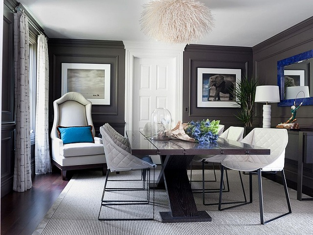 Dark-gray-walls-and-royal-blue-accents-in-the-classy-dining-room.jpg