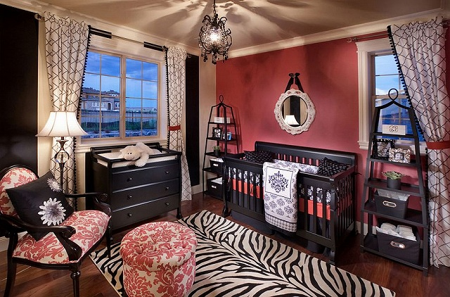 Exquisite-use-of-pink-and-black-in-the-nursery.jpg