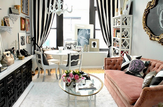 Feminine-living-room-in-black-and-white-with-pops-of-pink.jpg