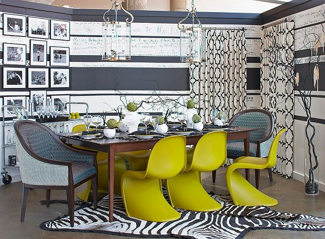 Gray-and-white-provide-the-perfect-backdrop-of-brilliant-accent-hues-in-the-dining-room.jpg