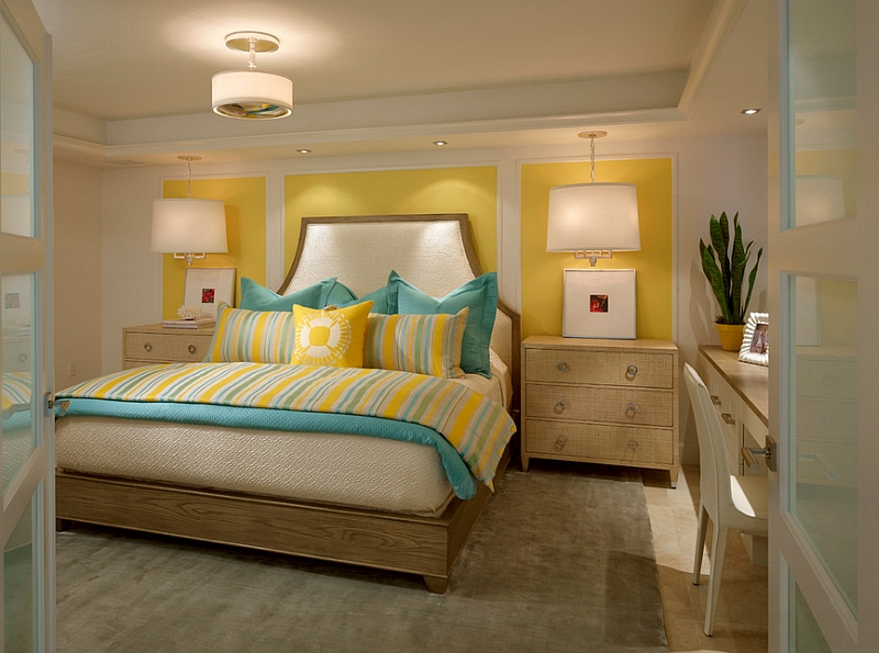 Small-and-chic-bedroom-in-yellow-and-turquoise.jpg