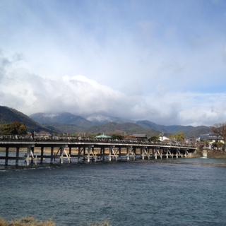 渡月橋とMt.愛宕