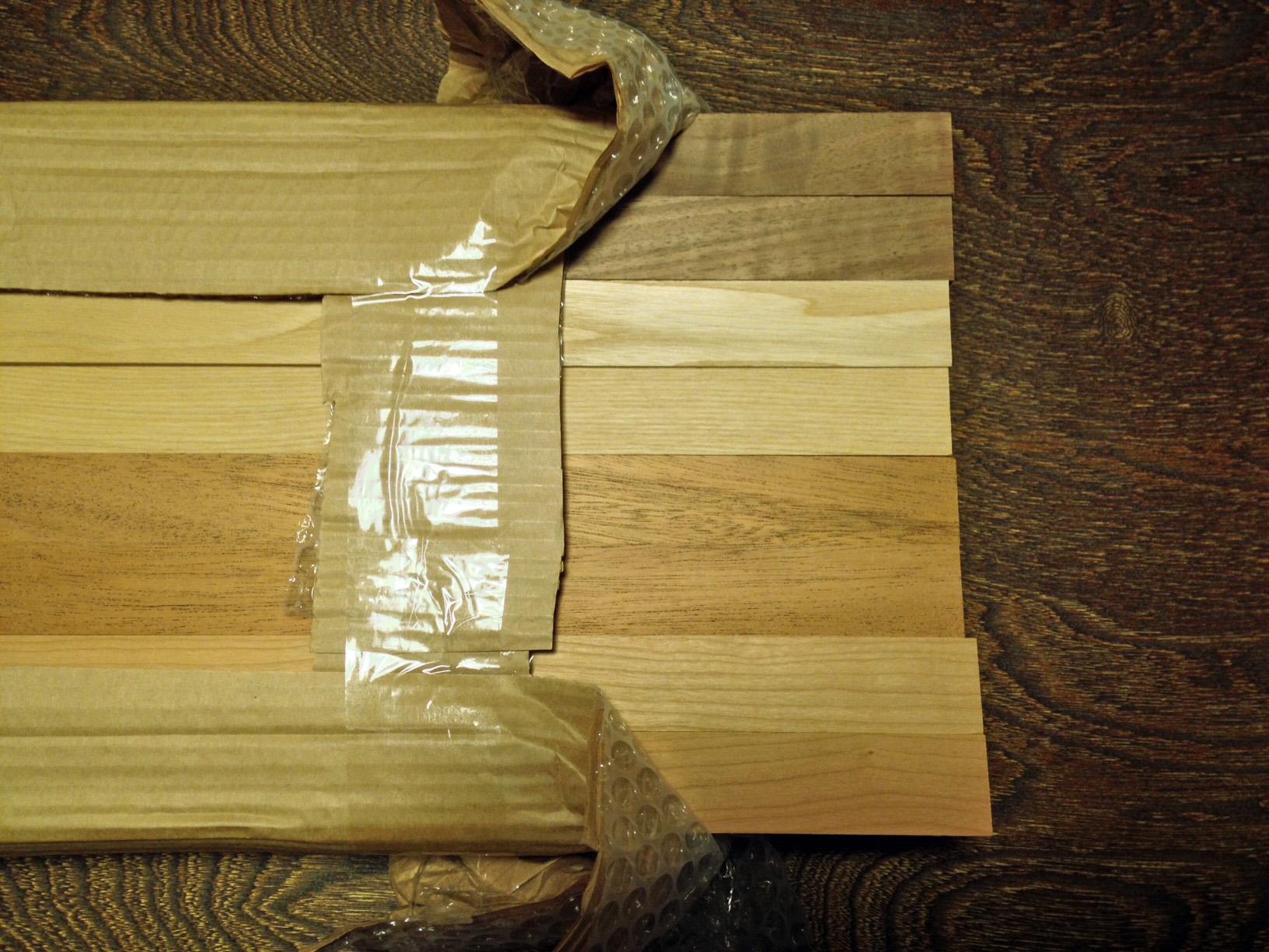鍋敷きの材木達