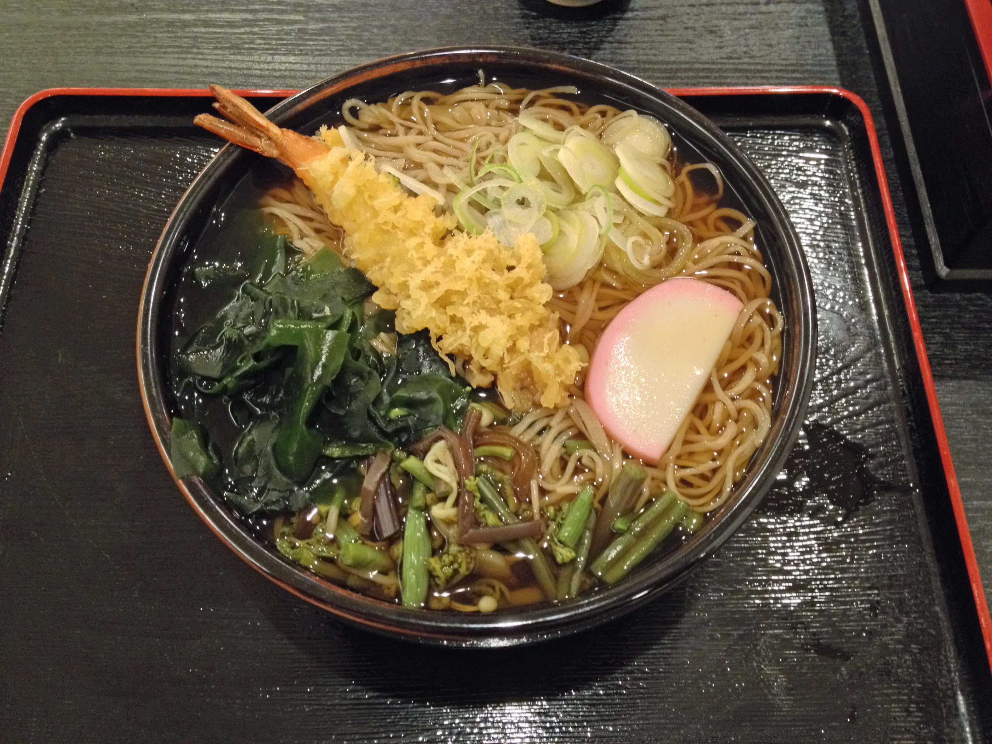 長野駅 てんぷら蕎麦