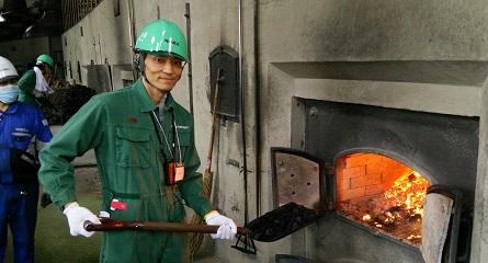 石炭直火炊き