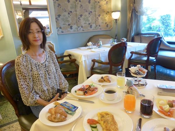 jサヴォイアホテルでの朝食