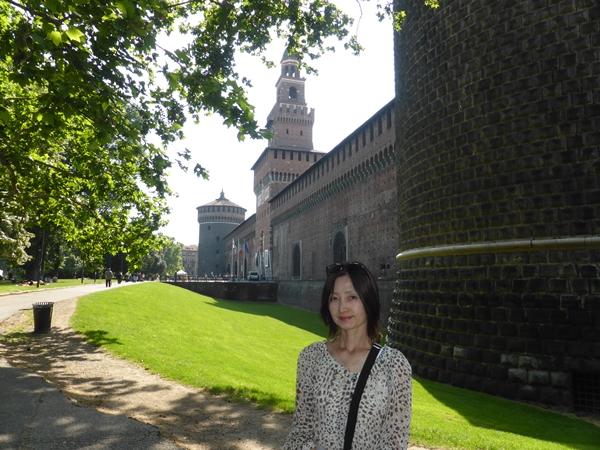mスフォルツァ城にて