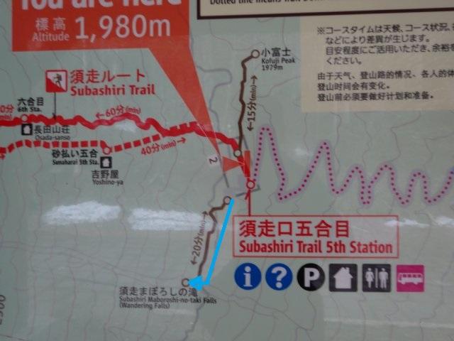 須走まぼろしの滝 地図