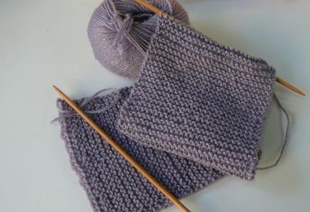 編み直したガータ