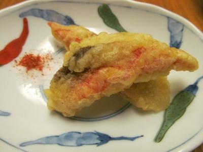 ホウボウの天ぷら小皿2