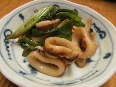 ヤリイカと分葱の豆鼓炒め小皿1