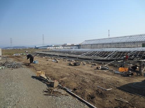 2014年 雪害 群馬県 伊勢崎市 温室 建設