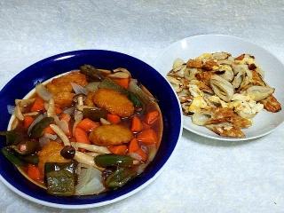 150619_3229酢鶏(チキンナゲット)・竹輪と卵の炒め物VGA