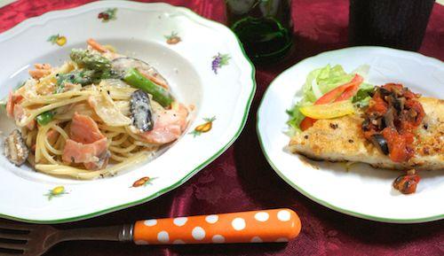 salmon asparagus cream sauce 2