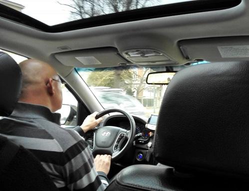 1 タクシー内の様子