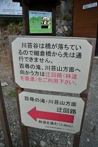 登山口の看板