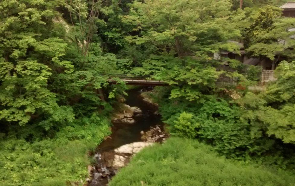 東山温泉(部屋からの景色)