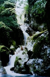 塩の川(あじろ滝)