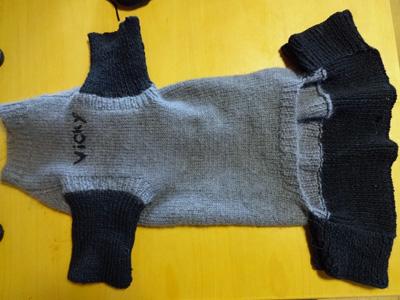 お古のセーター リメイク