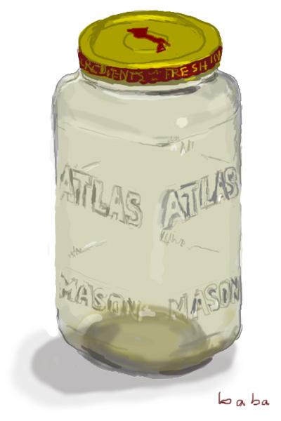 クラシコパスタソースの空き瓶