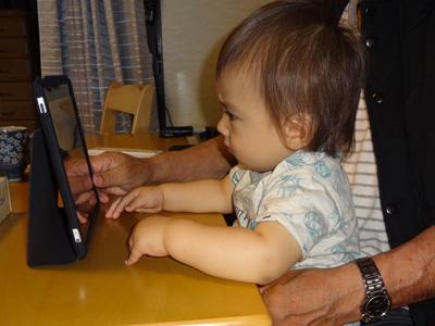 k iPadで音楽聞いてお昼寝