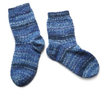 Opal熱帯雨林青の靴下