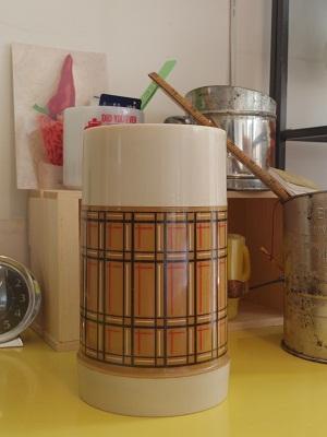 アラジン 茶チェック 水筒