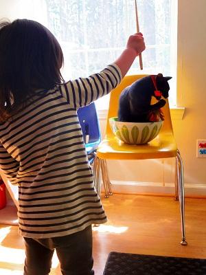 猫 in キャサリンホルム1