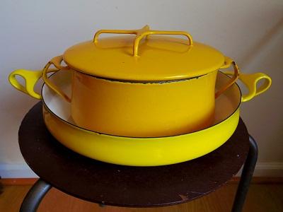 Dansk 両手鍋 黄色5