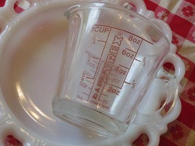 Pyrex1カップ用メジャーカップ2