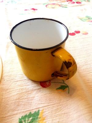 エナメルカップ黄色2