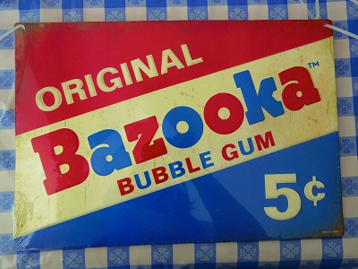 Bazooka メタルサイン