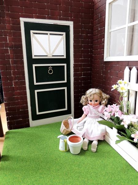 ドールハウスの春のお庭