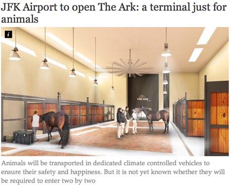 世界初!動物専用ターミナルがオープン!犬や猫以外にも馬と一緒に飛行機に!