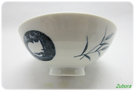 セリアの猫もようの美濃焼茶碗