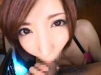 【里美ゆりあ】超美形お姉さんのまったり濃厚フェラでおもわず顔射!!