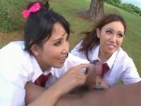ギャル痴女娘が筋トレしている男を捕まえ強制フェラ&パイズリ!友田彩也香 水咲あかね