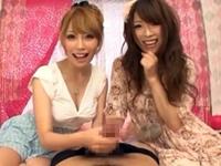 元AKBの姉とその妹による淫語スロー手コキでイク!