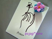花のマグネット